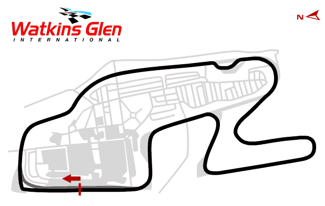 Watkins Glen Boot Track Map