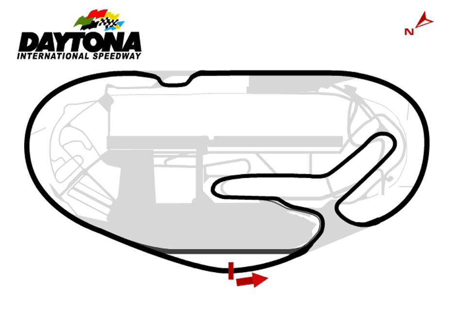 Daytona International Road Track Map