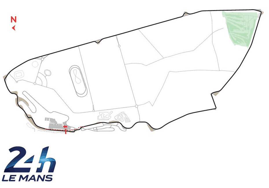Le Mans Track Map
