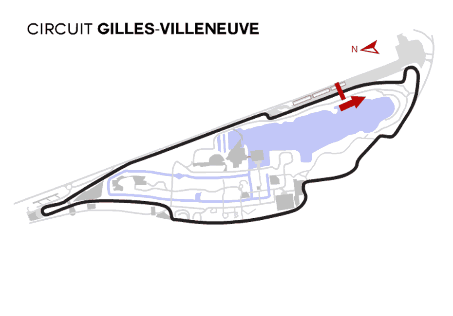 Montreal GP Track Map