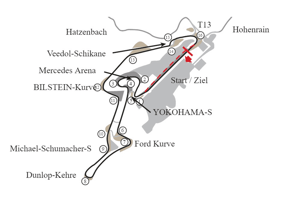 Nurburgring GP Track Map