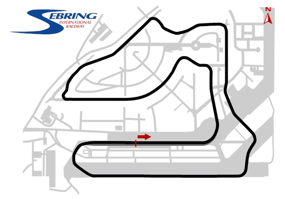 Sebring International Track Map