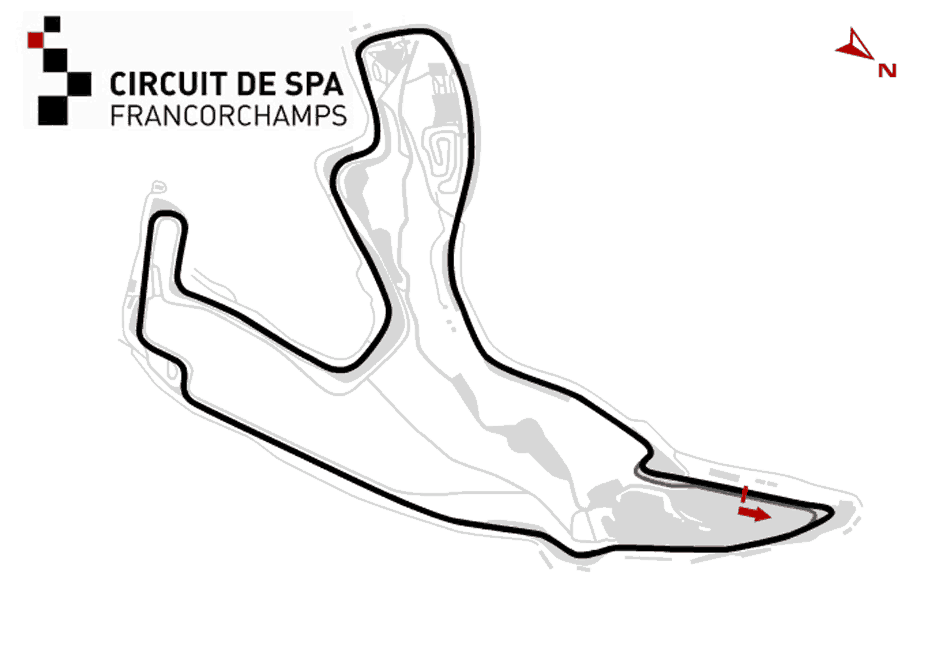 Spa GP Track Map