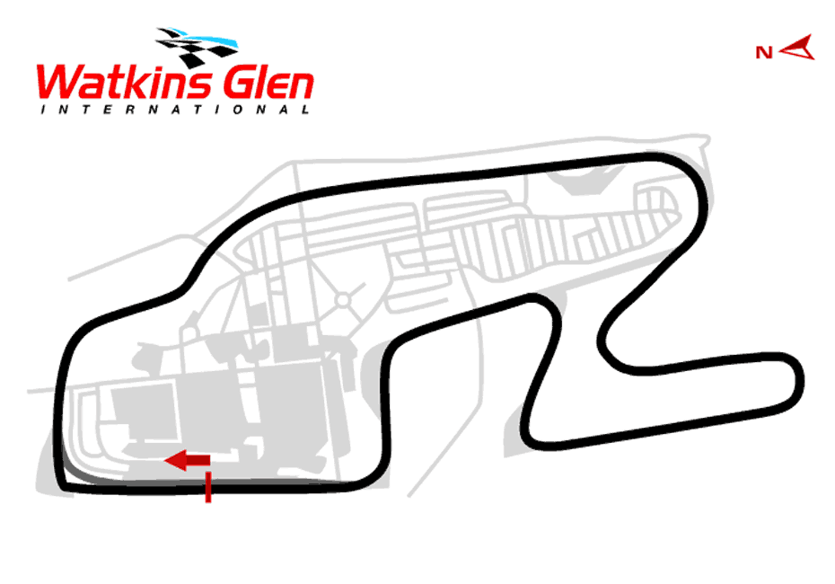 Watkins Glen Classic Boot Track Map