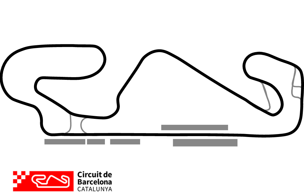 Barcelona Historic Track Map